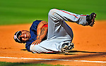 7 March 2009: Washington Nationals' third baseman Jose Castillo injures his arm during a Spring Training game against the New York Mets at Tradition Field in Port St. Lucie, Florida. The Nationals defeated the Mets 7-5 in the Grapefruit League matchup. Mandatory Photo Credit: Ed Wolfstein Photo