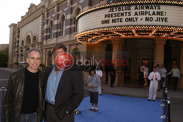 Jerry Zucker and Robert Hays<br /> at the launch of Jet Blue out of Burbank and 25th anniversary screening of &quot;Airplane&quot; at Warner Bros. Studios, Burbank, CA 06-13-05<br /> David Edwards/DailyCeleb.Com 818-249-4998