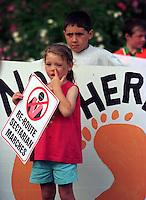 Catholics protest orange order march. Belfast, Northern Ireland.