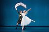 The Royal Danish Ballet soloists &amp; principals <br /> Bournoville Celebration <br /> at The Peacock Theatre, London, Great Britain <br /> press photocall<br /> 9th January 2015 <br /> <br /> La Sylphide <br /> <br /> Gudrun Bojesen as the Sylph <br /> Ulrik Birkkjaer as James<br /> <br /> <br /> <br /> <br /> <br /> Photograph by Elliott Franks <br /> Image licensed to Elliott Franks Photography Services