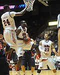 Ole Miss'  Eniel Polynice (14) vs. Auburn in Oxford, Miss. on Wednesday, February 24, 2010. Ole Miss won 85-75, giving coach Andy Kennedy his 100th win as a head coach.