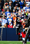 11 October 2009: Buffalo Bills' quarterback Trent Edwards makes a forward pass during a game against the Cleveland Browns at Ralph Wilson Stadium in Orchard Park, New York. The Browns defeated the Bills 6-3 for Cleveland's first win of the season...Mandatory Photo Credit: Ed Wolfstein Photo