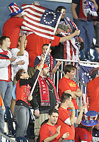 Fans of the USA MNT during an international friendly match against Colombia at PPL Park, on October 12 2010 in Chester, PA. The game ended in a 0-0 tie.