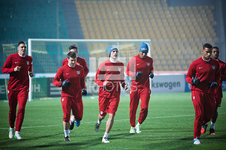 Krasnodar - Russia, Tuesday, November 13, 2012: The USMNT trains at Kuban Stadium in preparation for it's game with Russia.