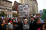USA - NEW YORK - Occupy Wall Street Day of Action anniversary