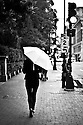Woman with Umbrella, Beacon St, Boston