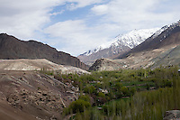 The Srinagar-Leh Highway, a.k.a. National Highway 1D (NH 1D) runs through extremely treacherous terrain and follows the historic trade route along the Indus River,.passes through Zoji La at 3528m, Fotu La at 4108m, and Drass (3230m) which is the coldest inhabited place in India with temperatures dropping to -45C during winter..*Pre-season Jeep road trip from Delhi to Amritsar, Srinagar, Kargil, Lamayuru, Leh, Khardung La, Tso Moriri and back to Delhi in May 2010. Photo by Suzanne Lee