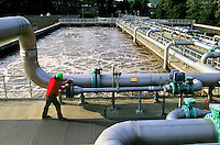 Aerating Ponds, Sewage Treatment Plant.Released: Ray Wexler