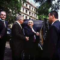 Bako S. Sahakyan, president of Nagorno-Karabakh came for the opening of the Grand hotel in the town of Shushi on the 1st of september 2011.