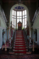 The Imperial staircase is decorated with exotic artefacts