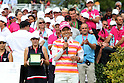Ai Miyazato (JPN),JULY 24, 2011 - Golf :Ai Miyazato of Japan speaks after winning the Evian Masters at the Evian Masters Golf Club in Evian-les-Bains, France. (Photo by Yasuhiro JJ Tanabe/AFLO)