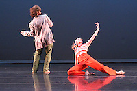 The Sho dancers Michael Rioux and Mikhail Kaschock performing Rioux' Wild Fruit Study 01 at Chop Shop 2010: Bodies of Work.