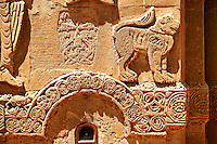 Bas Releif sculptures with scenes from the Bible on the outside of the 10th century Armenian Orthodox Cathedral of the Holy Cross on Akdamar Island, Lake Van Turkey 25