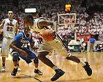 Ole Miss' Jarvis Summers (32) vs. Kentucky's Ryan Harrow (12) at the C.M. &quot;Tad&quot; Smith Coliseum on Tuesday, January 29, 2013. Kentucky won 87-74. (AP Photo/Oxford Eagle, Bruce Newman)..