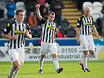 St Mirren v St Johnstone...19.10.13      SPFL<br /> Paul McGowan celebrates his goal, St Mirren's second<br /> Picture by Graeme Hart.<br /> Copyright Perthshire Picture Agency<br /> Tel: 01738 623350  Mobile: 07990 594431