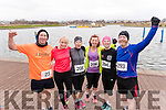 Mike Brosnan (Ballymac) with Michelle Greaney, Kerry O'Connor, Fiona O'Connor, Lorna Whyte and Brian Whyte (Tralee), all who took part in the Valentines 10 mile road race in Tralee, on Sunday morning last.