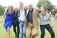 18/8/2010. RTE RADIO NEW SEASON LAUNCH. Radio presenters Miriam O' Callaghan, Gay Byrne, Ryan Tubridy, Marty Whelan and Hector Ó hEochagáin are pictured at the RTE Radio new Autumn season launch in Dublin. Picture James Horan/Collins Photos