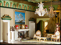 BNPS.co.uk (01202) 558833<br /> Picture: Peter Willows<br /> <br /> Georgian Manor complete with stunning rooms...<br /> <br /> Every little girls Xmas wish...A meticulously crafted dolls house that has taken Len Martin from Dorset 26 years to complete in his garden shed.<br /> <br /> Len is now selling his masterpiece in time for Xmas..but any bidders for 'Langdon Hall' will need deep pockets to come up with the &pound;10,000 asking price.<br /> <br /> Leonard Martin, 68, was inspired to make the ornate house after he doodled a picture of his 'perfect home' on a scrap of paper while he was bored at work in 1987.<br /> <br /> He has worked on the miniature property up to five hours a day since then to build the extravagant home and make his dreams a reality.<br /> <br /> The 6ft 2ins long and 3ft 6ins tall building has two bedrooms, two bathrooms, a kitchen, sitting room, dining room, and hallway all filled with tiny furniture.<br /> <br /> Leonard has spared no expense on the detailed Georgian manor and has spent more than 6,000 pounds building and filling the rooms.<br /> <br /> He has splashed out on detailed finishes and period furnishings including a Swarvoski crystal chandelier, hand stitched carpets, and real marble flooring.<br /> <br /> There are miniature beds, settees, cupboards, baths, toilets, and even tiny oil paintings that look like their huge counterparts - including the Mona Lisa.<br /> <br /> After working on the incredibly intricate Langdon House for more than a third of his life, Leonard has now decided to sell it and hopes to fetch around 9,000 pounds.<br /> <br /> Leonard, who used to own a miliary memorabilia shop and lives in Charlton Marshall near Blandford,Dorset, said: &quot;It all began when I was in my shop one