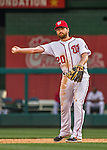 7 April 2016: Washington Nationals infielder Daniel Murphy in action during the Nationals' Home Opening Game against the Miami Marlins at Nationals Park in Washington, DC. The Marlins defeated the Nationals 6-4 in their first meeting of the 2016 MLB season. Mandatory Credit: Ed Wolfstein Photo *** RAW (NEF) Image File Available ***