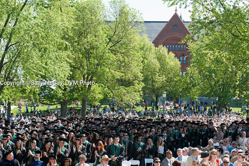 UVM 2012 Commencement Ceremony on the UVM Green.
