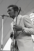 CHUCK BERRY (October 18, 1926 – March 18, 2017)  - performing live at the Capital Radio Jazz Festival held at Alexandra Palace in London UK - July 1979.  Photo credit: George Bodnar Archive/IconicPix