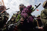 Victory Day celebration in Donetsk