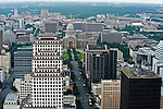 The Austin Texas skyline as seen from the Austonian building, July 6, 2009.  The Austonian is the tallest building in Austin.