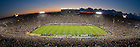 Sept. 22, 2012; The sun sets in the first quarter of the Michigan game...Photo by Matt Cashore/University of Notre Dame