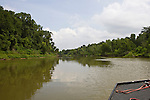 Boating on the Brazos River, Brazoria County, Texas.