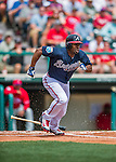 11 March 2016: Atlanta Braves outfielder Michael Bourn in action during a Spring Training pre-season game against the Philadelphia Phillies at Champion Stadium in the ESPN Wide World of Sports Complex in Kissimmee, Florida. The Phillies defeated the Braves 9-2 in Grapefruit League play. Mandatory Credit: Ed Wolfstein Photo *** RAW (NEF) Image File Available ***