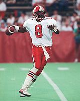 Danny Barrett Calgary Stampeders quarterback 1991. Copyright photograph Scott Grant/