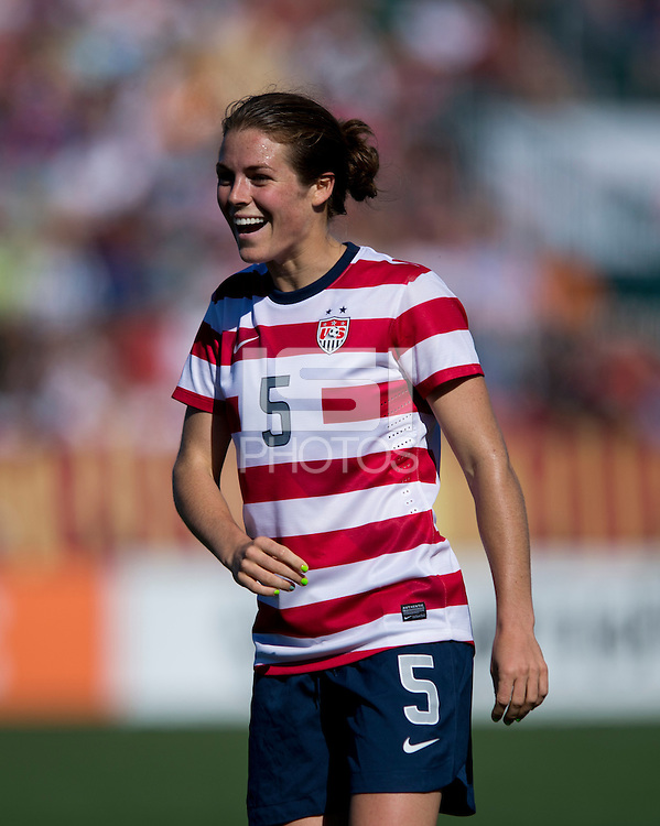 Kelley O'Hara.  The USWNT defeated Costa Rica, 8-0, during a friendly match at Sahlen's Stadium in Rochester, NY.