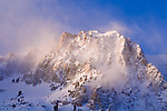 Winter dawn on Carson Peak, June Lake, California USA