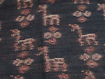NO LONGER AVAILABLE ATS-215 RARE ANTIQUE IKAT FLORES WITH ANIMALS