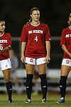 04 September 2015: NC State's Hannah Keogh. The North Carolina State University Wolfpack hosted the Oregon University Ducks at Dail Soccer Field in Raleigh, NC in a 2015 NCAA Division I Women's Soccer game. NC State won the game 2-0.