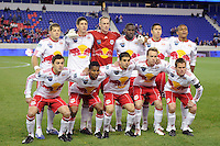 New York Red Bulls starting eleven. The New York Red Bulls defeated the Philadelphia Union 2-1 during a US Open Cup qualifier at Red Bull Arena in Harrison, NJ, on April 27, 2010.