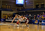 23 MAR 2012:  Alyssa Lane (15) right, of Shaw University makes a steal against Lindsay Tenyak (20) of Ashland University during the Division II Womens Basketball Championship held at Bill Greehey Arena in San Antonio, TX.  Shaw University defeated Ashland University 88-82 for the national title.  Rodolfo Gonzalez/ NCAA Photos