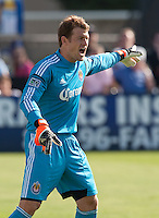 Santa Clara, California - Sunday May 13th, 2012: Dan Kennedy of Chivas USA instructing his players during a Major League Soccer match against San Jose Earthquakes at Buck Shaw Stadium