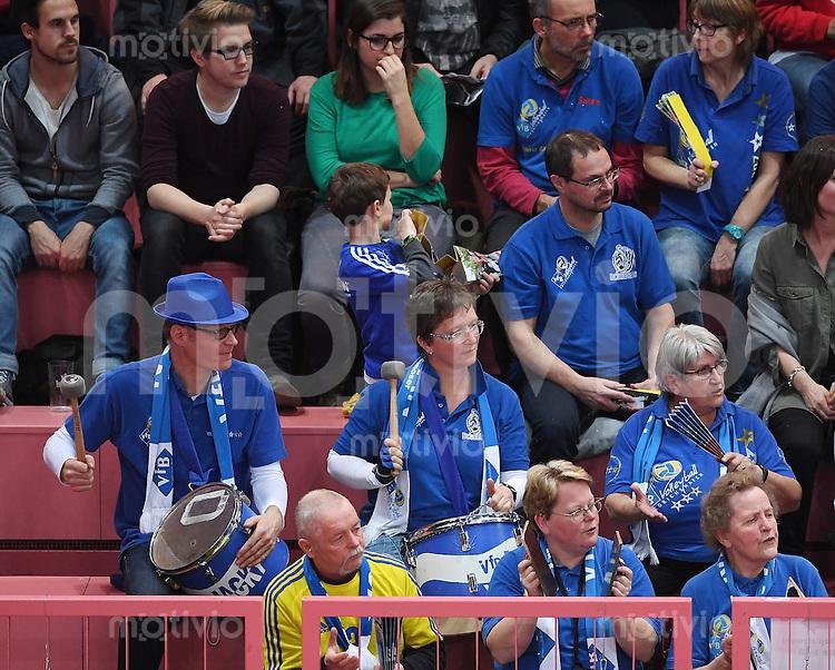 Volleyball 1. Bundesliga Saison 2016/2017  28.12.2016 TV Rottenburg - VfB Friedrichshafen VfB Friedrichshafen Fans in der Paul Horn Arena