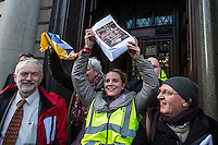 PCS National Gallery strike & protest 5-2-15