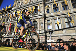 Mitchell Docker (AUS) Orica-Scott team on stage at sign on before the 101st edition of the Tour of Flanders 2017 running 261km from Antwerp to Oudenaarde, Flanders, Belgium. 26th March 2017.<br /> Picture: Eoin Clarke | Cyclefile<br /> <br /> <br /> All photos usage must carry mandatory copyright credit (&copy; Cyclefile | Eoin Clarke)