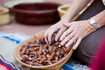 Acorns, similar to the ones harvested in this basket, were once a valuable food source for the first Ohlone people.