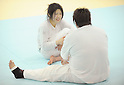 Misato Nakamura, Mika Sugimoto, MARCH 28, 2012 - Judo : Japanese women's national team open the practice for press at Ajinomoto National Trining center in Itabashi, Japan. (Photo by Atsushi Tomura /AFLO SPORT) [1035]