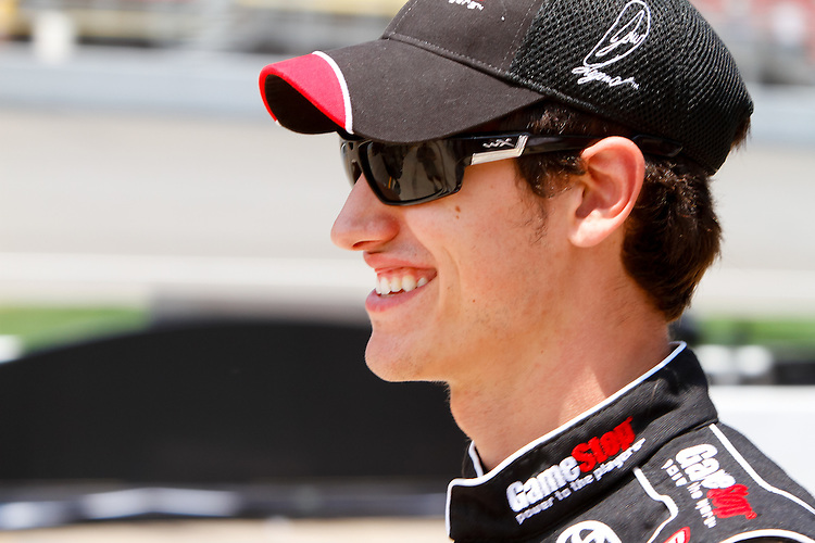 18 June, 2011: Joey Logano prior to qualifying for the 43rd Annual Heluva Good! Sour Cream Dips 400 at Michigan International Speedway in Brooklyn, Michigan. (Photo by Jeff Speer :: SpeerPhoto.com)