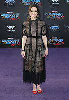 19 April 2017 - Hollywood, California - Elizabeth Henstridge. Premiere Of Disney And Marvel's &quot;Guardians Of The Galaxy Vol. 2&quot; held at the Dolby Theatre. <br /> CAP/ADM<br /> &copy;ADM/Capital Pictures