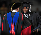 May 21, 2011; Former Notre Dame Fighting Irish football player Robert Hughes receives his degree at the 2011 College of Arts & Letters Commencement ceremony...Photo by Matt Cashore/University of Notre Dame