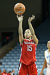 05 December 2012: Radford's Ashley Buckhannon. The University of North Carolina Tar Heels played the Radford University Highlanders at Carmichael Arena in Chapel Hill, North Carolina in an NCAA Division I Women's Basketball game. UNC won the game 64-44.