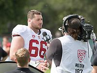 Stanford, CA - April15, 2017:  Harrison Phillips at Cagan Stadium.