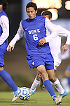 06 November 2012: Duke's Sean Davis. The University of North Carolina Tar Heels defeated the Duke University Blue Devils 1-0 at Fetzer Field in Chapel Hill, North Carolina in a 2012 NCAA Division I Men's Soccer game. The game was an Atlantic Coast Conference quarterfinal match.