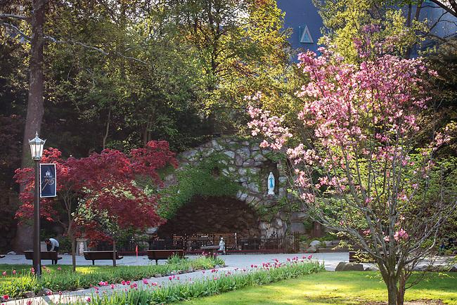 April 28, 2017; Grotto spring 2017 (Photo by Matt Cashore/University of Notre Dame)